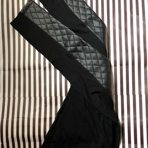 Pants - Tights with leather patches